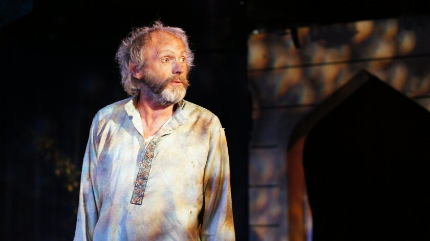 """Ron Choularton in Ion Theatre's production of """"Bengal Tiger at the Baghdad Zoo."""""""