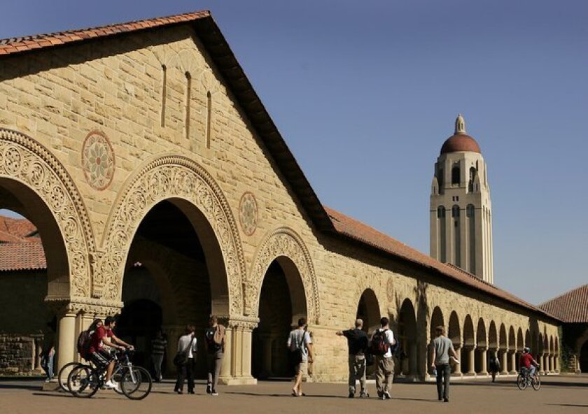 The Stanford campus, whose computer network was breached by a hacker.