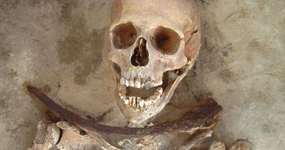 Villagers buried suspected vampires with blades, rocks