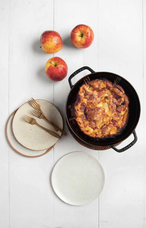 Apple schalet from The Jewish Cookbook