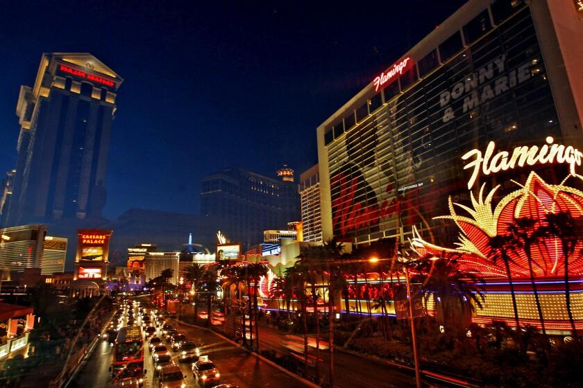 A view of the Las Vegas Strip on Aug. 7, 2013.