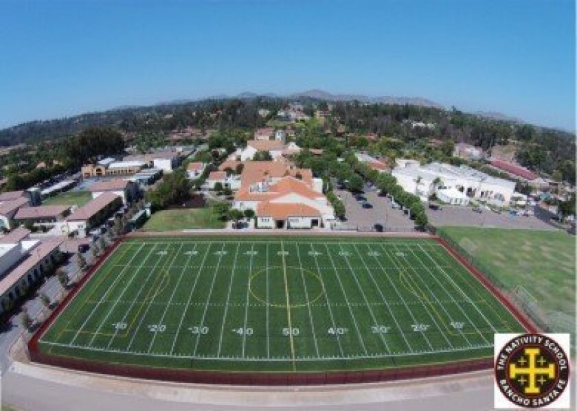 The Nativity School replaced its playing field with artificial turf this year.
