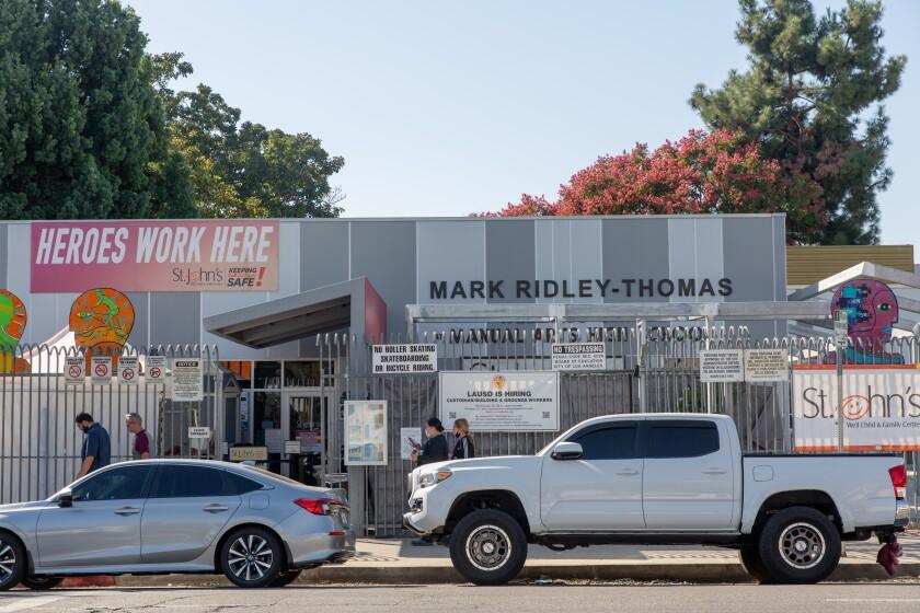 Mark Ridley-Thomas Wellness Center at Manual Arts High School in Los Angeles.