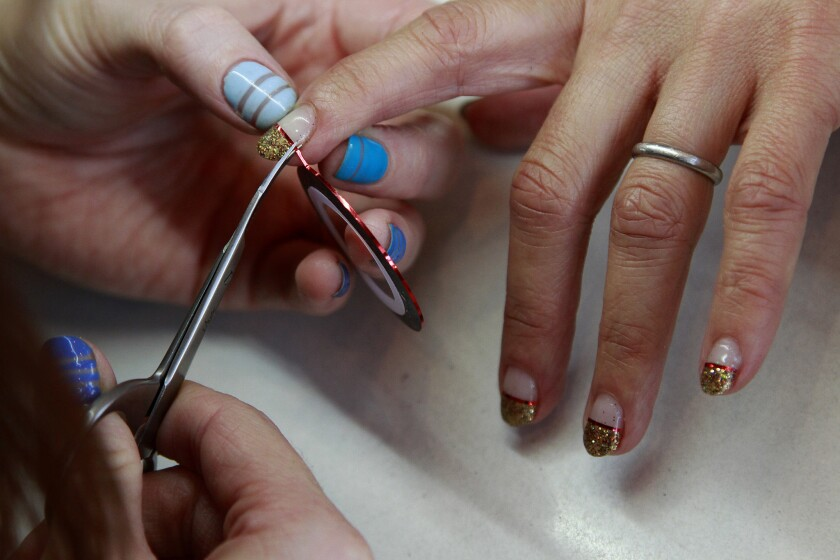 Under the latest state health guidelines announced Tuesday, nail salons will be allowed to reopen in California.