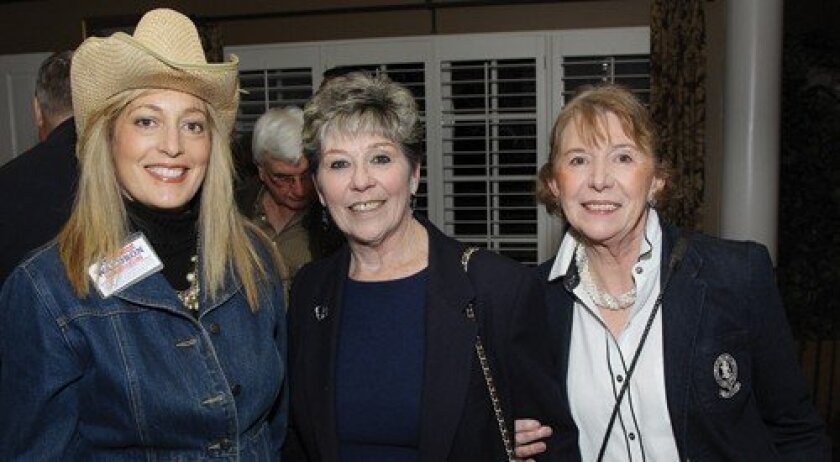 State Assembly candidate Marie Waldron, Barbara Fullwood, Rosemary Colliander