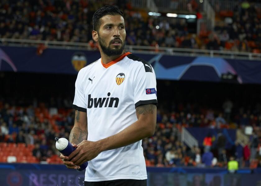Ezequiel Garay of Valencia CF.