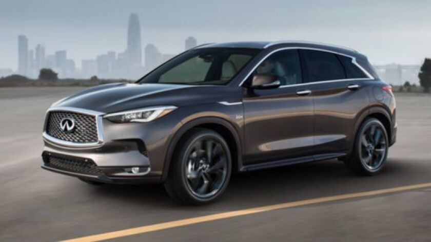 The QX50 is sold in three trim levels with front- or all-wheel drive. Starting prices range from $38,540 to the top-line Essential AWD at $46,145.