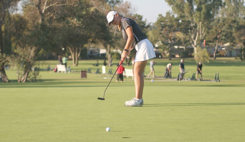 Sophomore Megan Royal was the low scorer for second place Carlsbad.