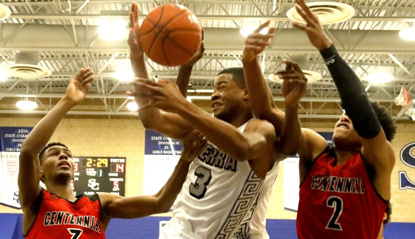 Sierra Canyon and Cassius Clay, who fights for a rebound during a win over Corona Centennial last week, remain unbeaten.