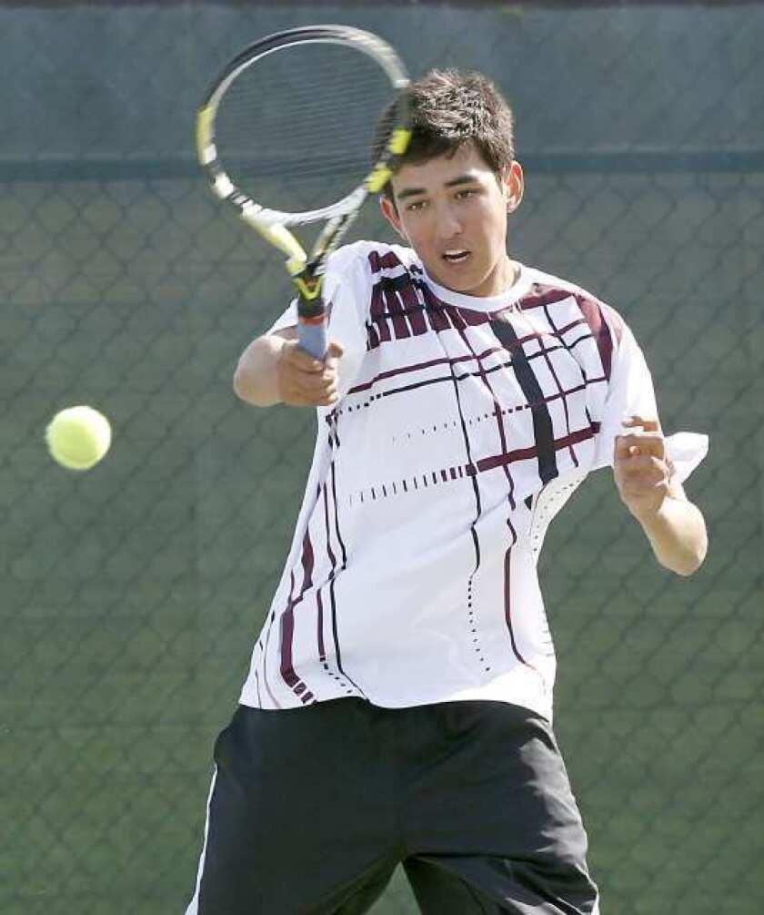 High School Roundup: Laguna boys' tennis owns top spot in league