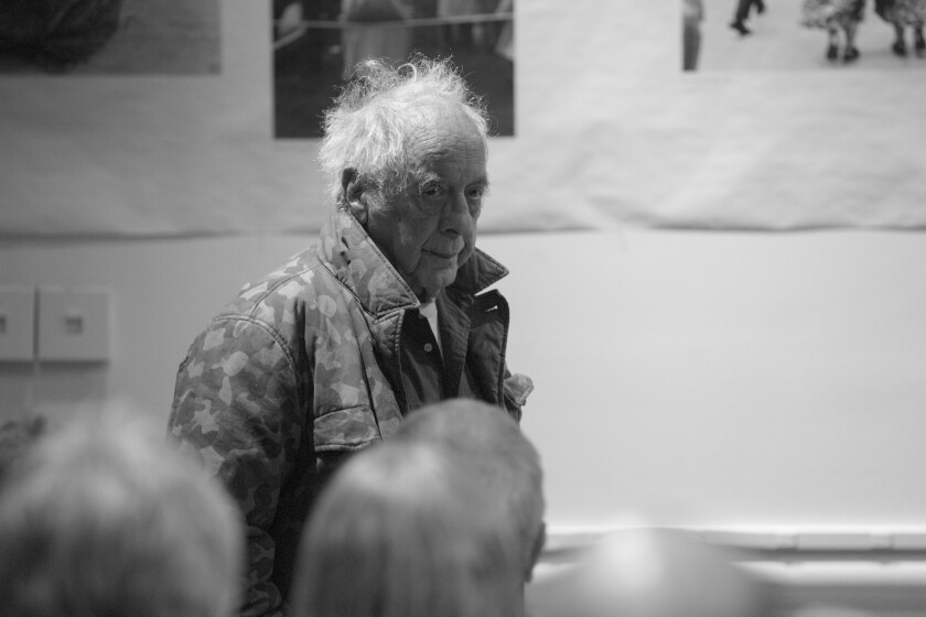 """Photographer Robert Frank attends the opening of """"Robert Frank, Books and Films, 1947-2016"""" at the Tisch Galleries on Jan. 28, 2016, in New York City."""