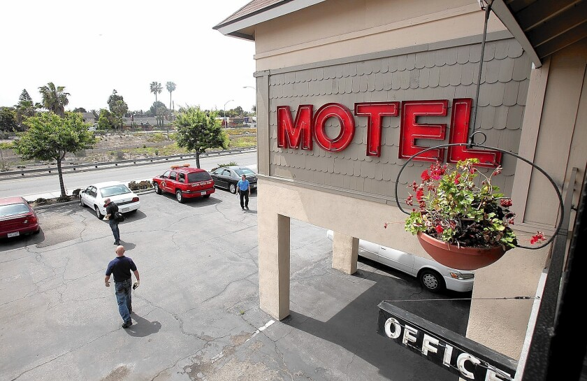 The Costa Mesa City Council approved the first reading of new standards Tuesday for city motels to have long-term tenants. Under the rules, however, the Sandpiper Motel would have to make significant changes before being allowed to have long-term occupants.