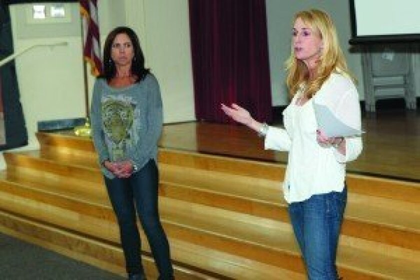PTA representatives Shelby Wyandt and Heather Keith