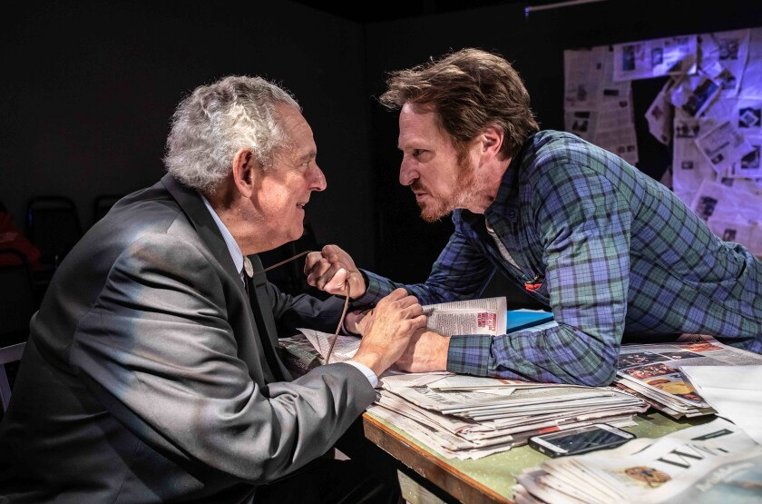 Review: The collapse of journalism, live onstage. 'Red Ink' flows in Atwater