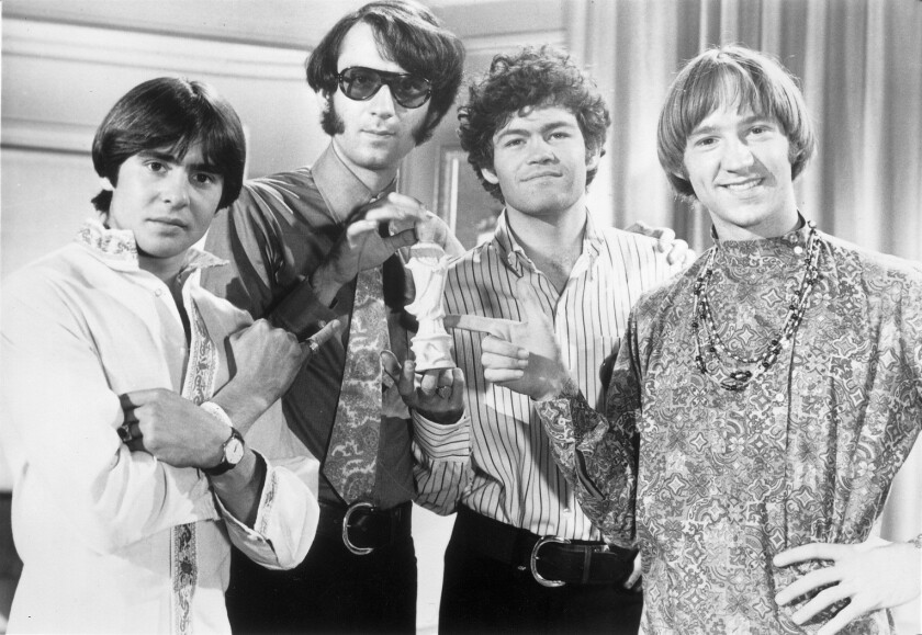 The Monkees circa 1968: Davy Jones, Michael Nesmith, Micky Dolenz and Peter Tork.