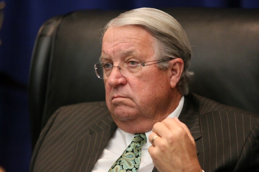 Los Angeles County Supervisor Don Knabe traveled to Sacramento to push for more funding for a county program that handles nursing home inspections.