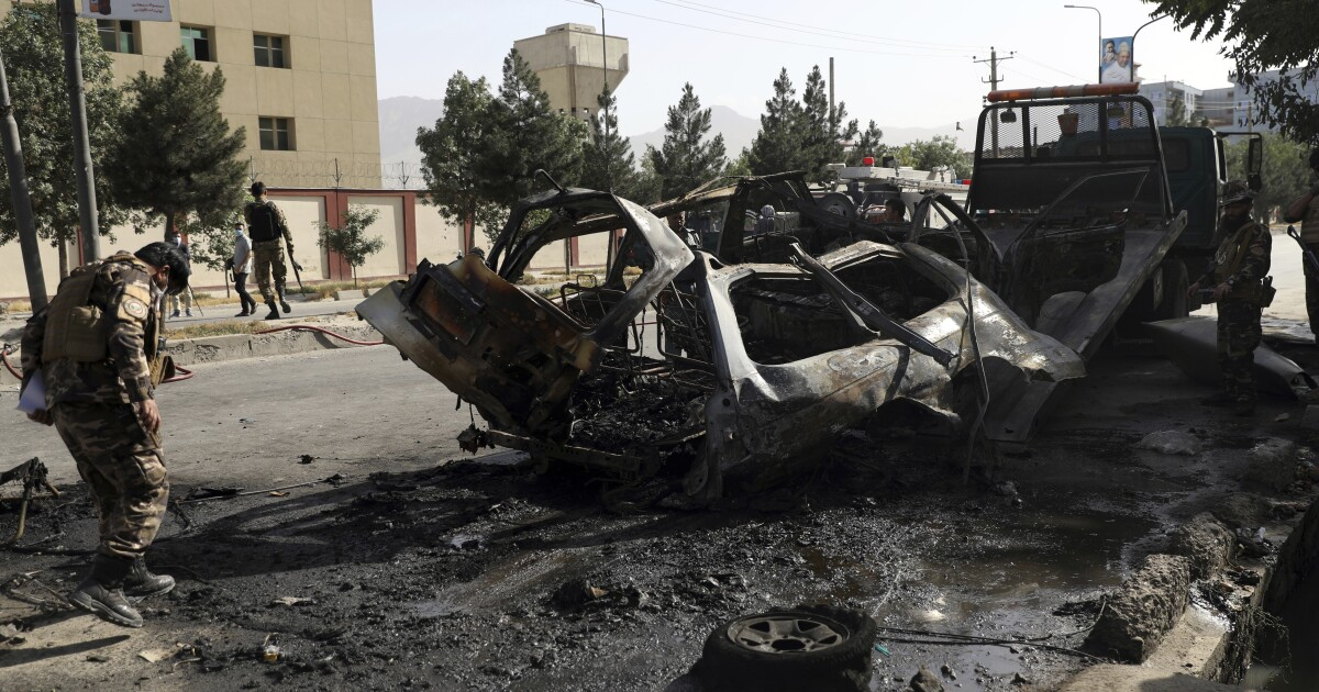 Islamic State claims responsibility for bomb attacks in Afghan capital that kill 7 - Los Angeles Times