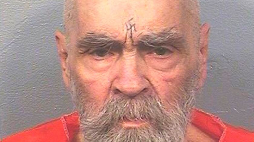 Charles Manson, shown on Aug. 14, has died. Can the rest of us stop keeping him alive?