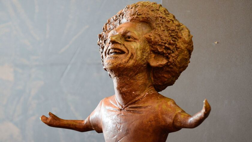 Sculpture of Liverpool and Egypt football player Mohamed Salah, Sharm El Sheikh - 05 Nov 2018