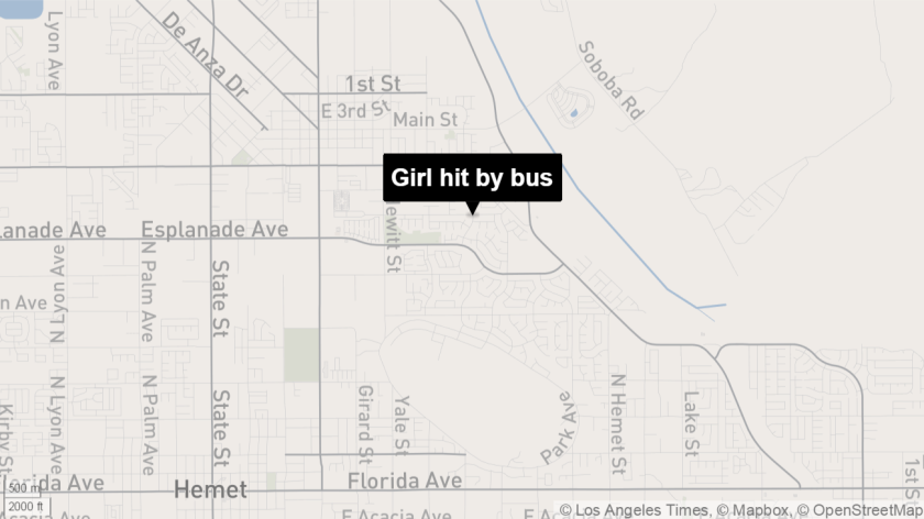 Girl run over by bus