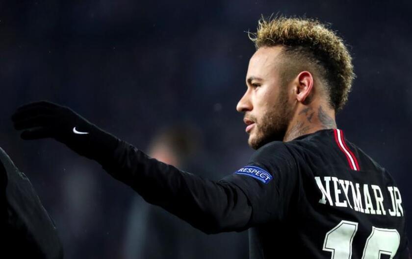 Neymar Jr. de PSG durante un partido. EFE/Archivo