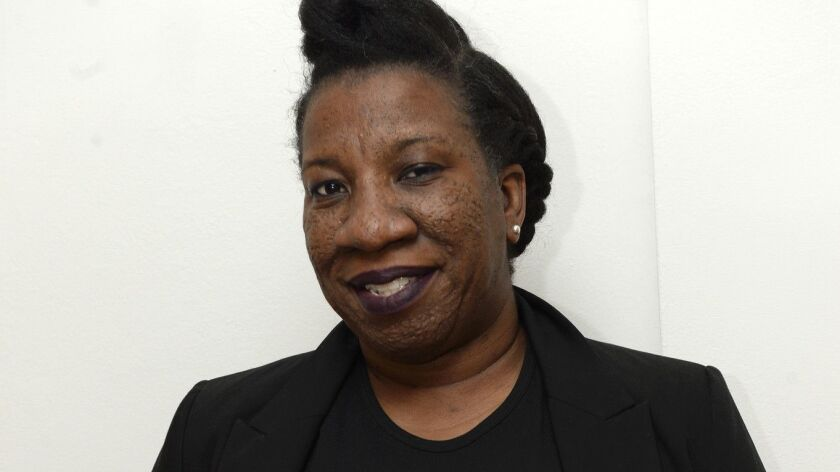 """Me Too Movement founder Tarana Burke, photographed in 2017, when she was among the """"silence breakers"""" women named Time Magazine's Person of the Year."""