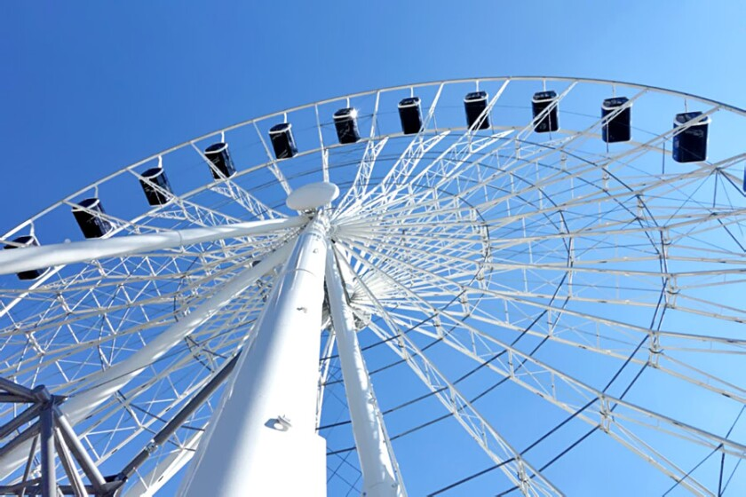 Pictured is Sky Views of America's R80 XL wheel, which is larger than the one planned for the park.