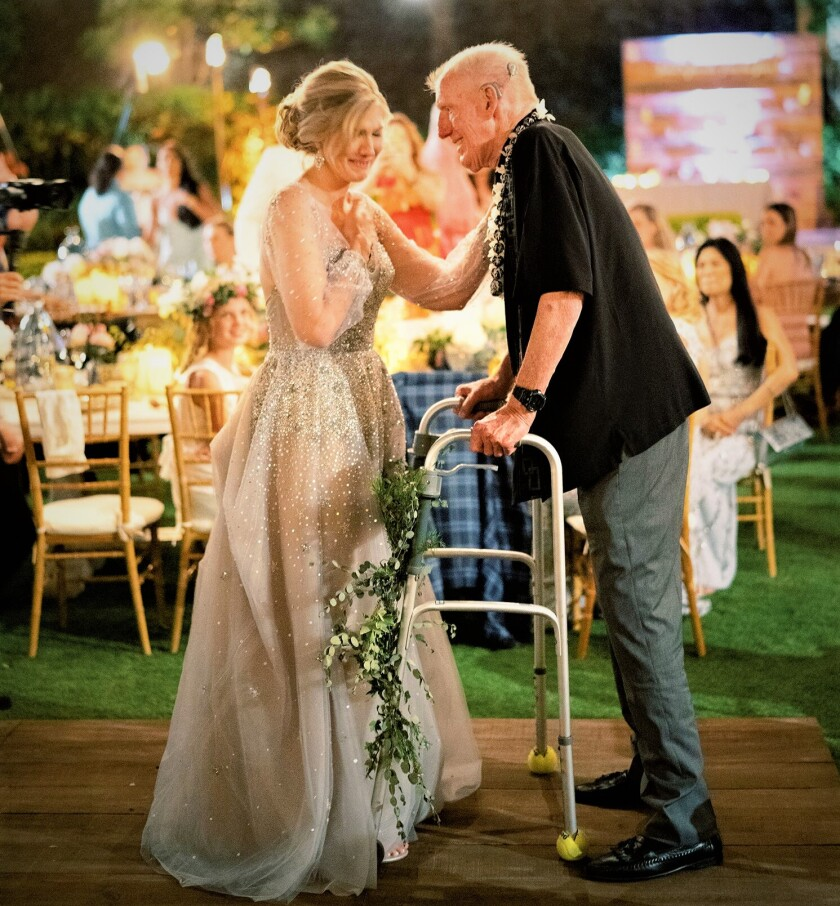 Bruce Walton dancing with his daughter, Harmony, on her wedding day this May. When ABC-TV posted video of this emotional moment, it went viral.