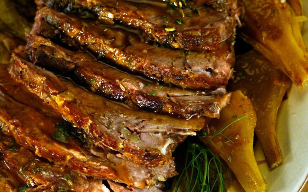 Cider-braised pork with fennel