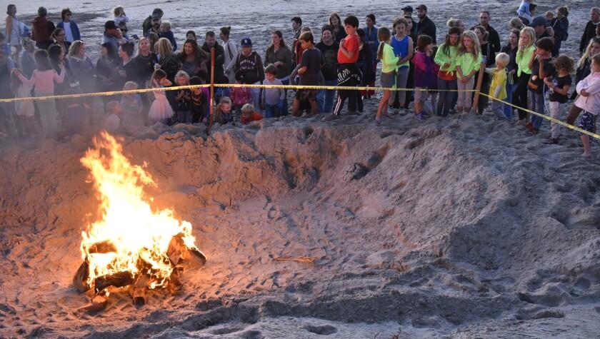 The bonfire is a popular event in Del Mar