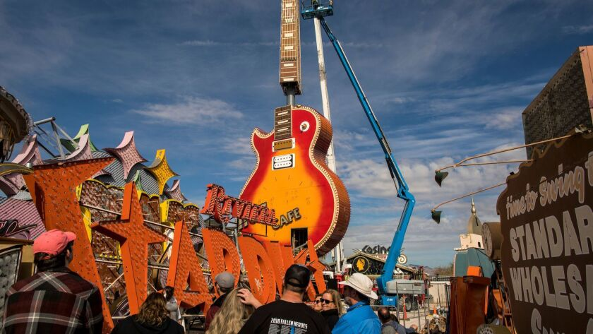 Neon Museum Hard Rock Guitar