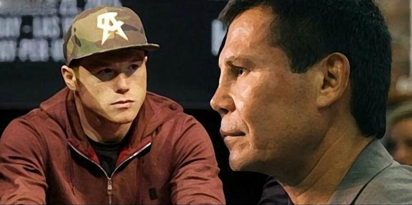 JC Chávez (d) opinió del arrastre que actualmente tiene 'Canelo' Álvarez (i).