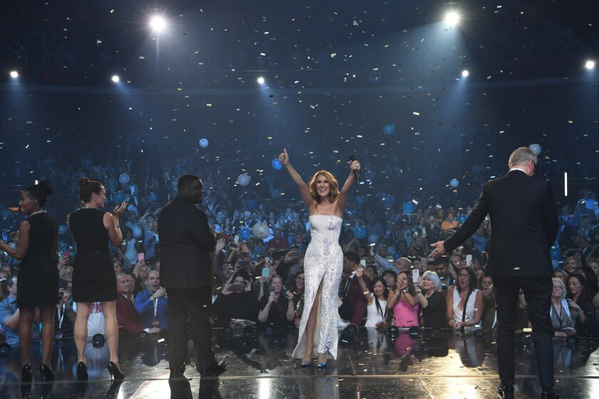 Celine Dion celebrated her 100th performance at The Colosseum at Caesars Palace in 2016.