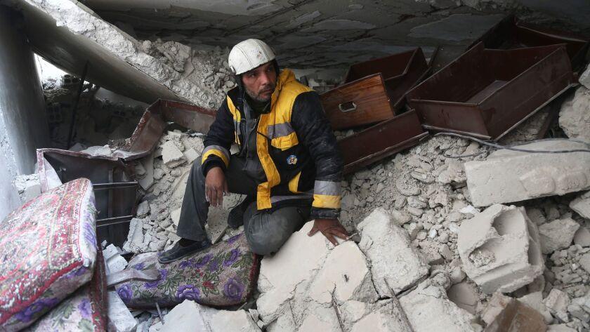 SYRIA-CONFLICT-WHITE HELMETS