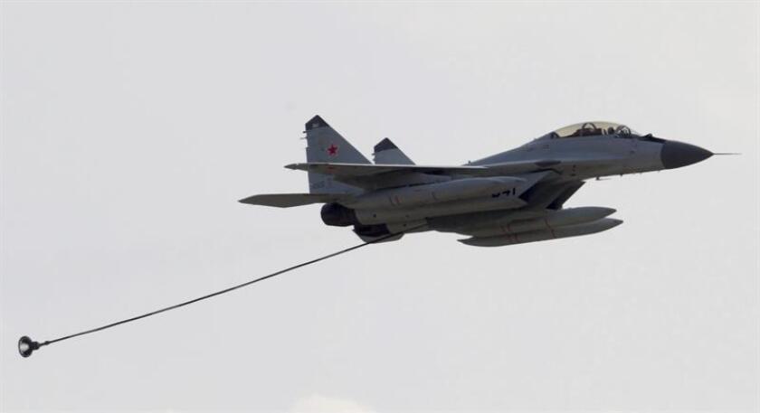 """Un portavoz del Pentágono aseguró a Efe que """"el Departamento de Defensa no está coordinando ataques aéreos con las Fuerzas Armadas rusas en Siria"""". EFE/Archivo"""