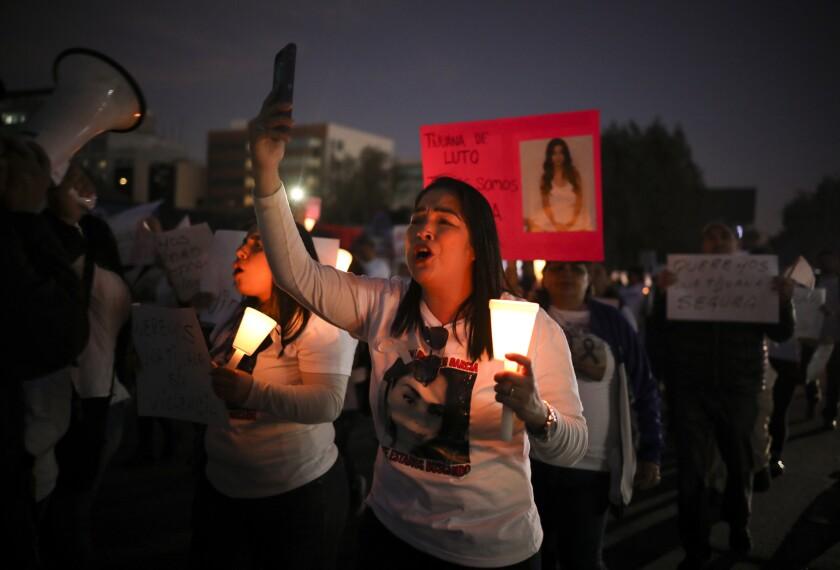 March against gender violence, Tijuana
