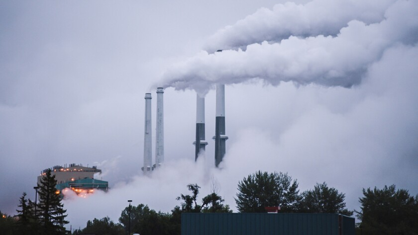 """The Colstrip Power Plant in Colstrip, Mont., is shown in a scene from the documentary """"From the Ashes."""""""