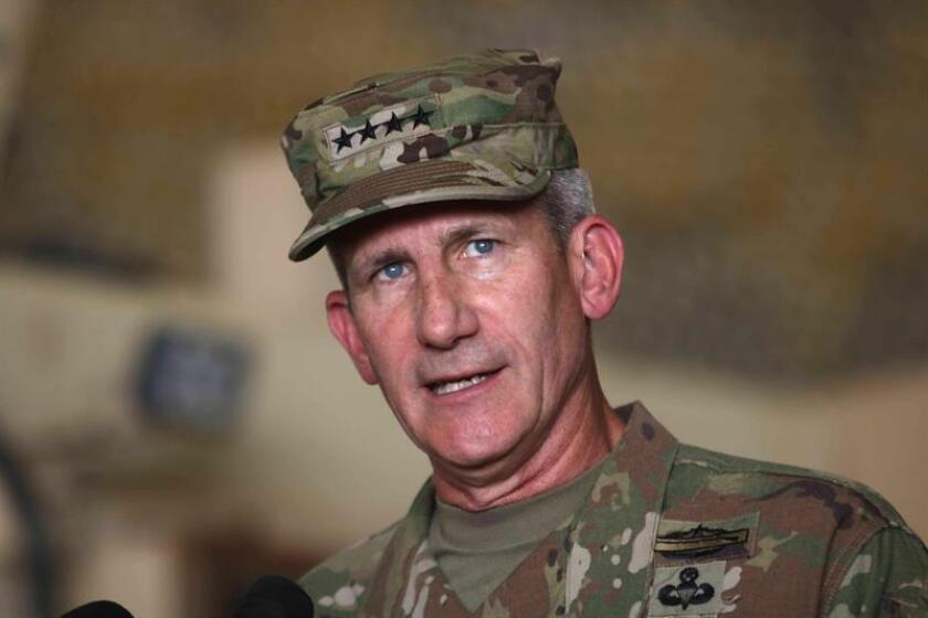El general del ejército de los Estados Unidos John Nicholson. EFE/Archivo
