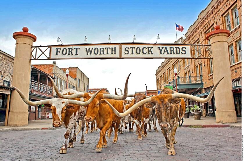El Distrito Histórico de los Stockyards resulta imperdible cuando se visita Fort Worth para poder revivir el espíritu del Viejo Oeste.
