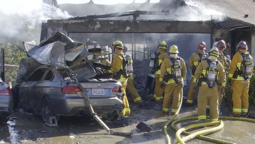 Santee garage fire _still1