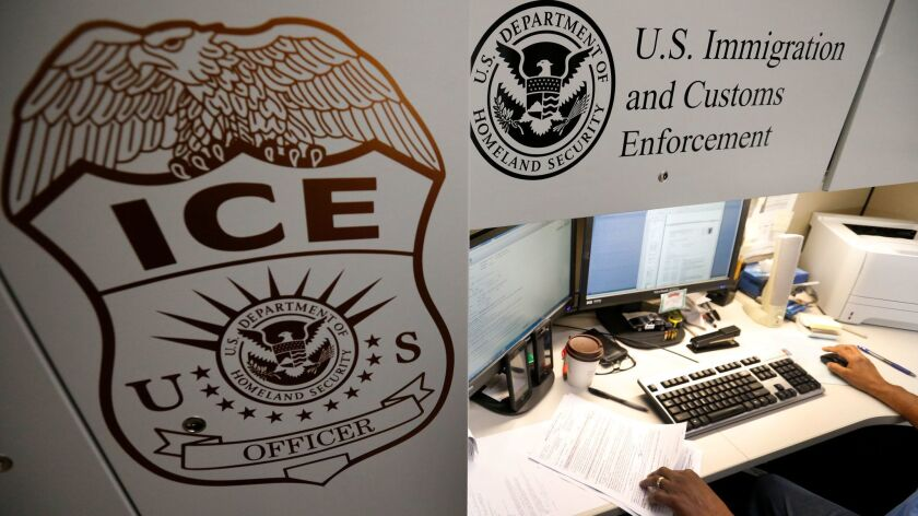 LAGUNA NIGUEL, CALIF. -- WEDNESDAY, APRIL 26, 2017: An unidentified Immigration and Customs Enforc