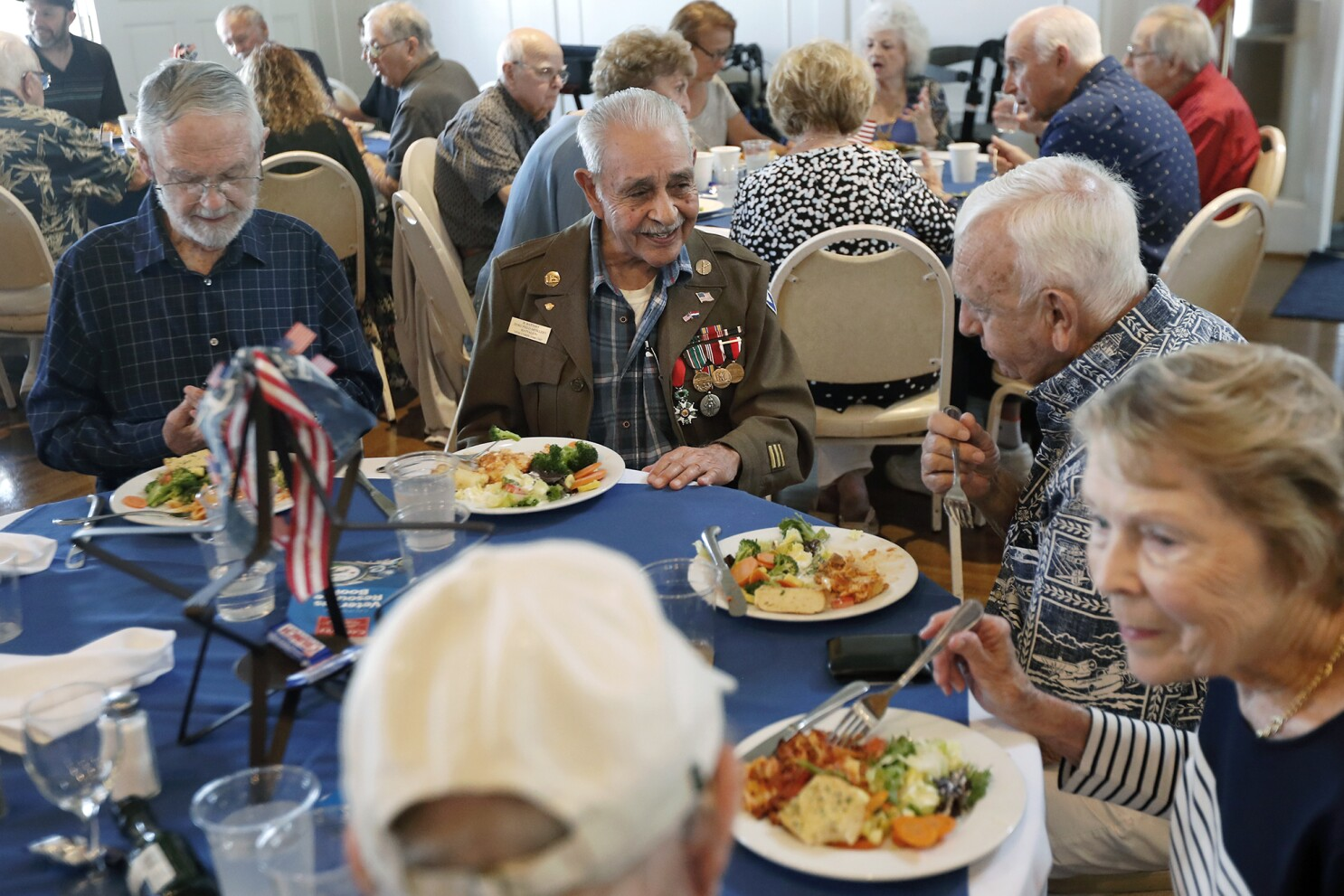 WWII and Korean War vets help celebrate American Legion centennial at Newport post