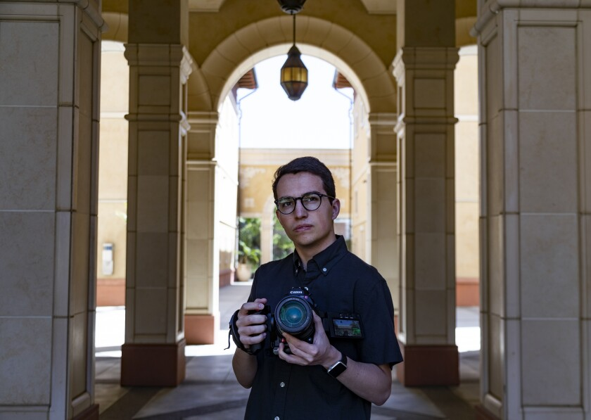 Luke Konopasky, a recent USC School of Cinematic Arts graduate, was hired for a production job with the help of First Jobs.