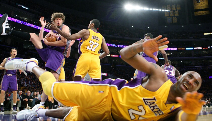 In a hard-fought battle, the Lakers defeated the Phoenix Suns 128-107 in Game 1 of the 2010 Western Conference finals.