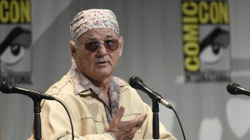 """Bill Murray attends """"Rock the Kasbah"""" panel on day one of Comic-Con International Thursday, July 9, 2015, in San Diego, Calif. (/ Chris Pizzello/Invision/AP)"""