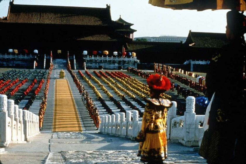 """Pu Yi (Richard Vuu) was about 3 years old at his coronation in """"The Last Emperor."""""""