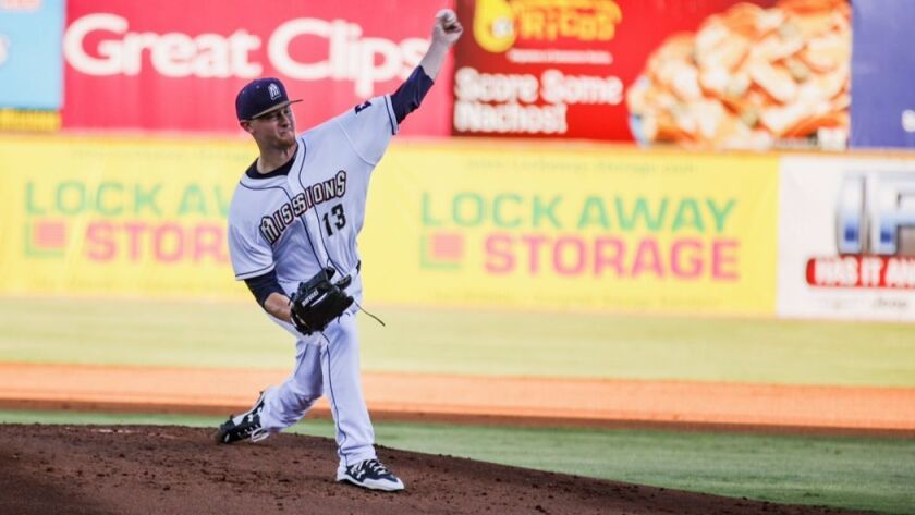 Padres pitching prospect Eric Lauer was promoted from Lake Elsinore to San Antonio after the Califor