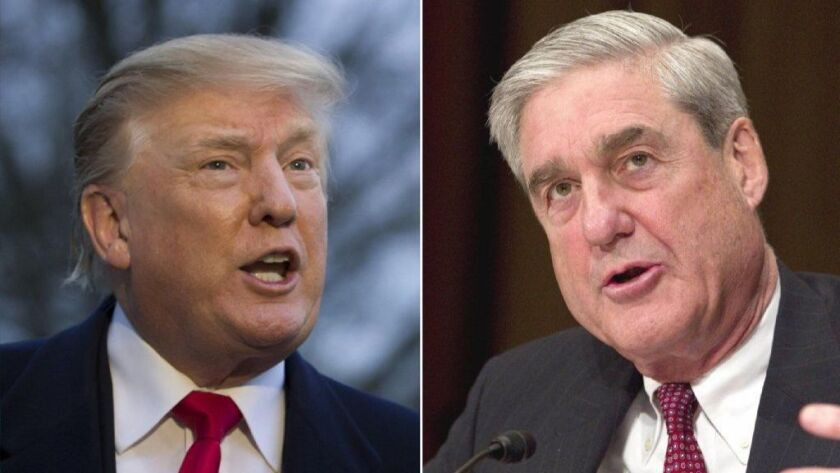 President Trump, left, and special counsel Robert S. Mueller III.