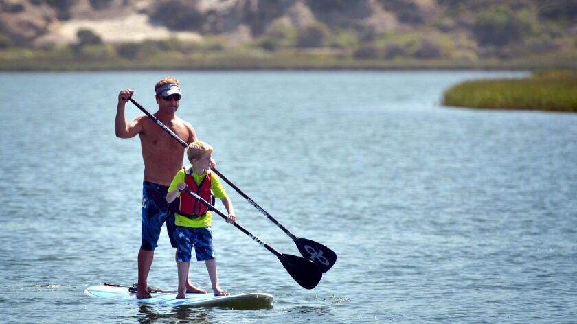 Miracles for Kids hold a free Surf & Paddle Summer Camp that benefits CHOC kids with life–threatening illnesses at the Newport Beach Aquatics Center.