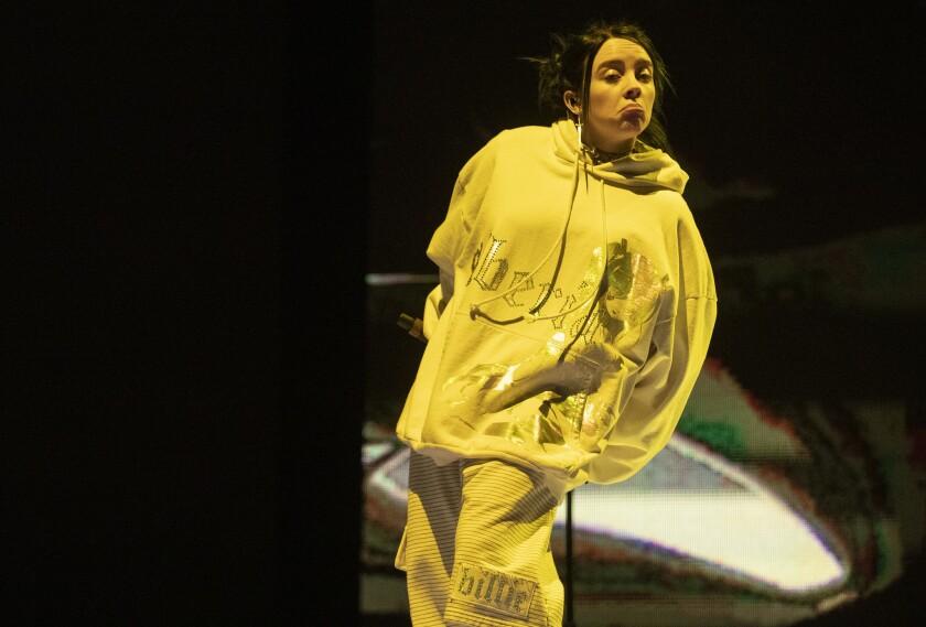 Billie Eilish onstage at Coachella
